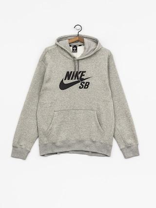 Mikina s kapucňou Nike SB Sb Icon HD (dk grey heather/black)