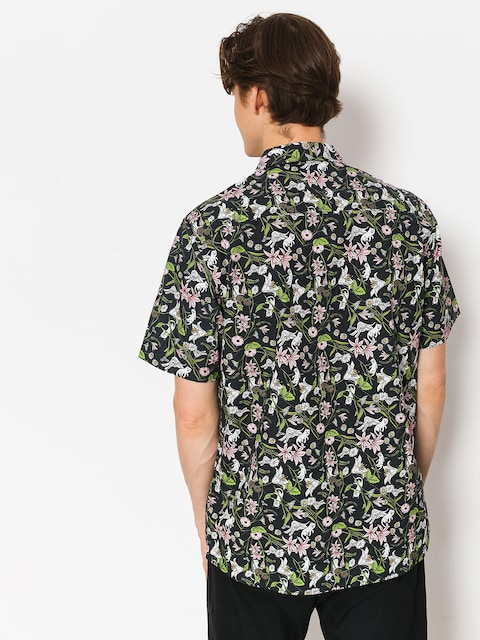Košeľa RipNDip Nerm Flower Button Up (black)