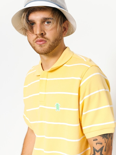 Tričko Polo Grizzly Griptape Fairway Striped (yellow)