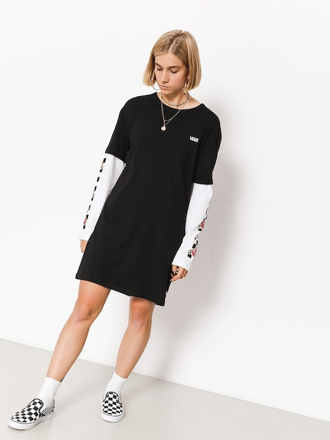 Šaty Vans Break Time Twofer Dress Wmn (black)