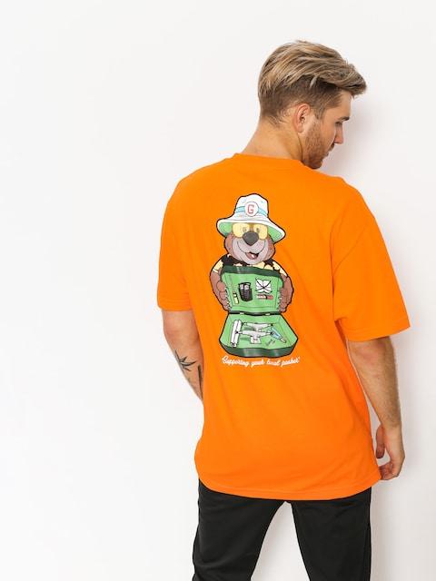 Tričko Grizzly Griptape Bear & Loathing (orange)