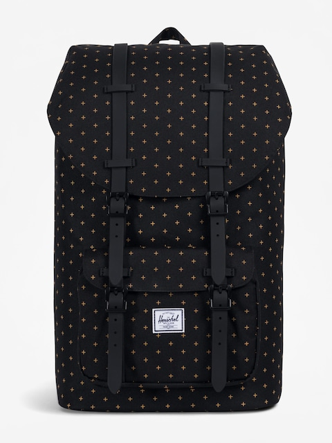 Batoh Herschel Supply Co. Little America (black gridlock gold)