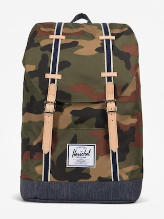 Batoh Herschel Supply Co. Retreat (woodland camo/dark denim)