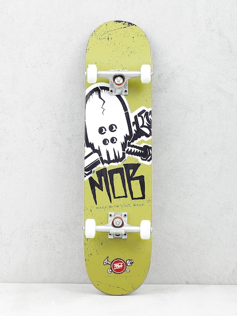 Skateboards Mob Skateboard Skull Stencil (olive green)
