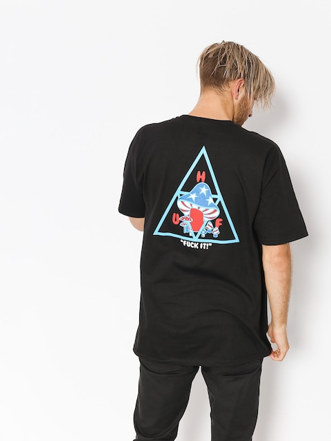 Tričko HUF Triple Triangle Shroom (black)