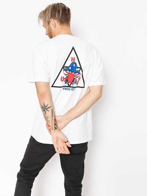 Tričko HUF Triple Triangle Shroom (white)