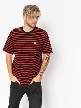 Tričko Carhartt WIP Robie (robie stripe black/blast red)
