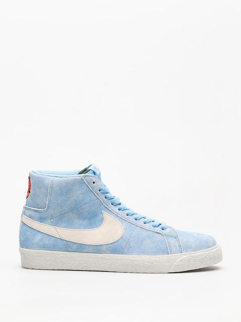 Topánky Nike SB Sb Zoom Blazer Mid (university blue/light bone habanero red)