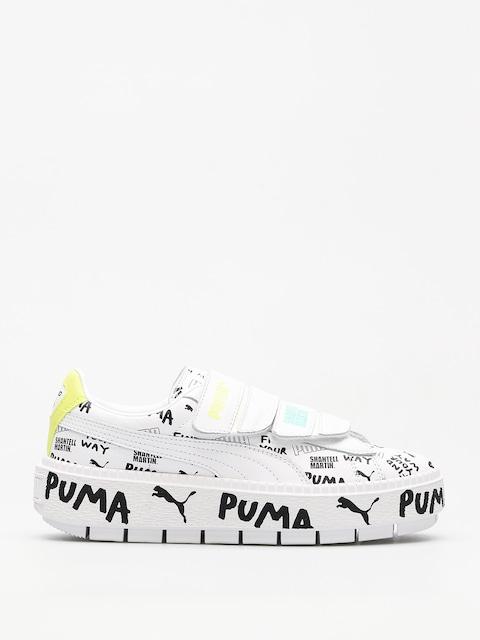 Topánky Puma Platform Trace Strap x SHANTELL MARTIN Wmn (puma white/puma)