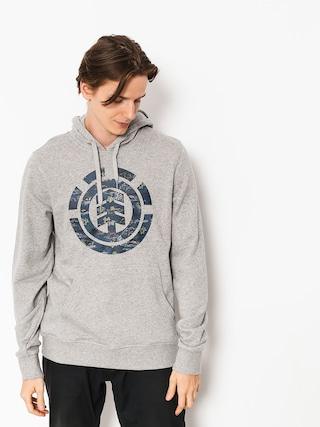 Mikina s kapucňou Element Logo Fill HD (grey heather)
