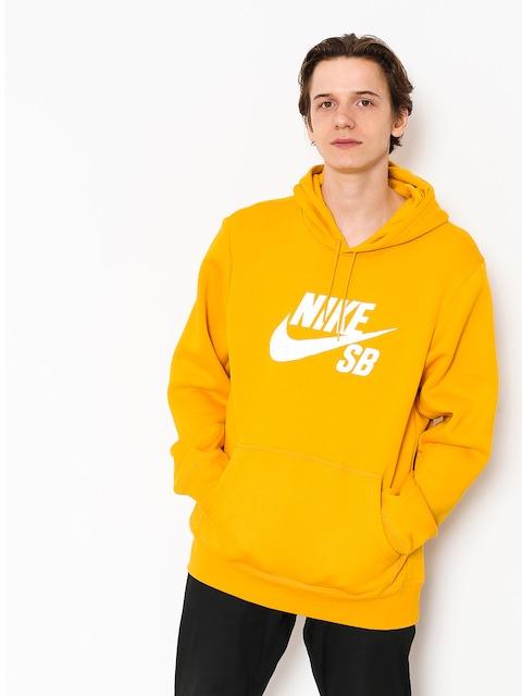 Mikina s kapucňou Nike SB Sb Icon HD (yellow ochre/white)