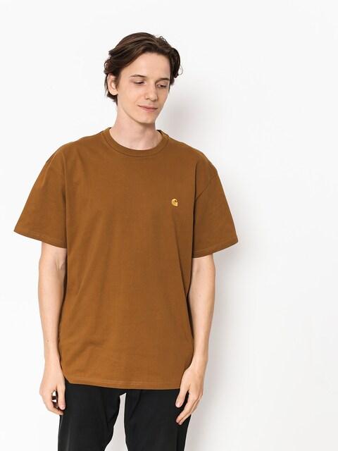 Tričko Carhartt WIP Chase (hamilton brown/gold)