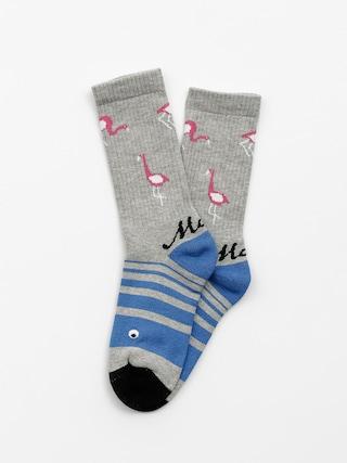 Ponožky Malita Flamingo (heather grey/blue)