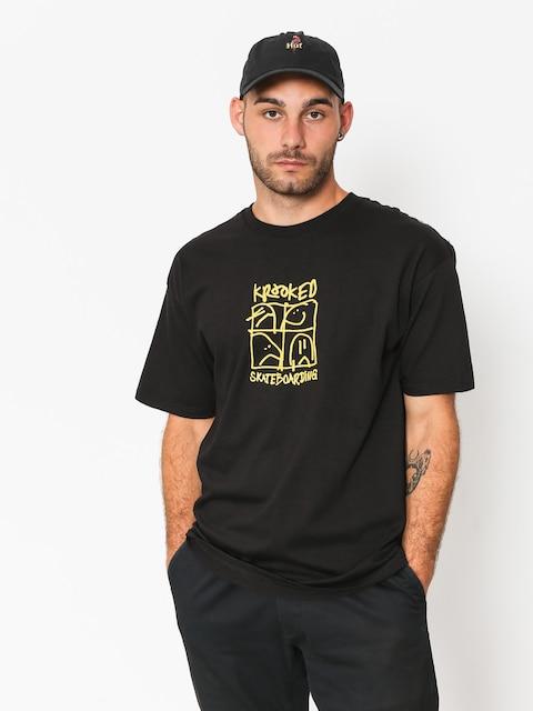 Tričko Krooked Kd Ultra (black/yellow)