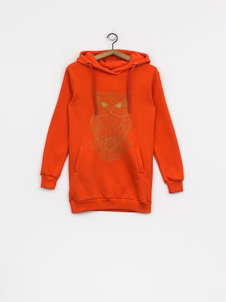 Mikina s kapucňou Majesty Owl Lady HD Wmn (orange)