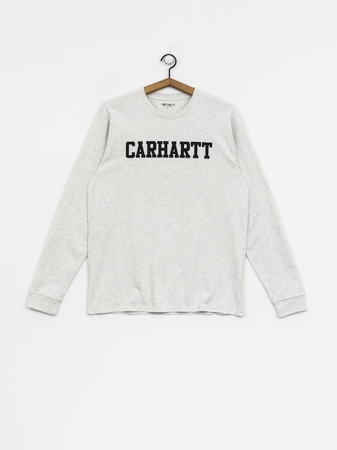 Triko Carhartt WIP College (ash heather/dark navy)