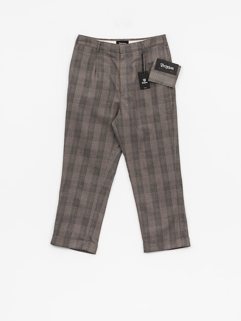 Nohavice Brixton Regent Trouser (grey plaid)