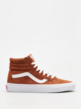 Topu00e1nky Vans Sk8 Hi Reissue (leather brown/true white)