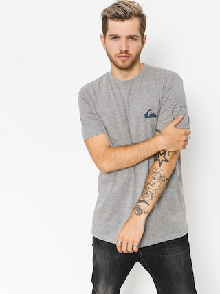 Tričko Quiksilver Solid Left (medium grey heather)