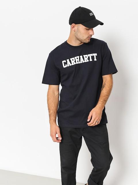 Tričko Carhartt WIP College (dark navy/white)