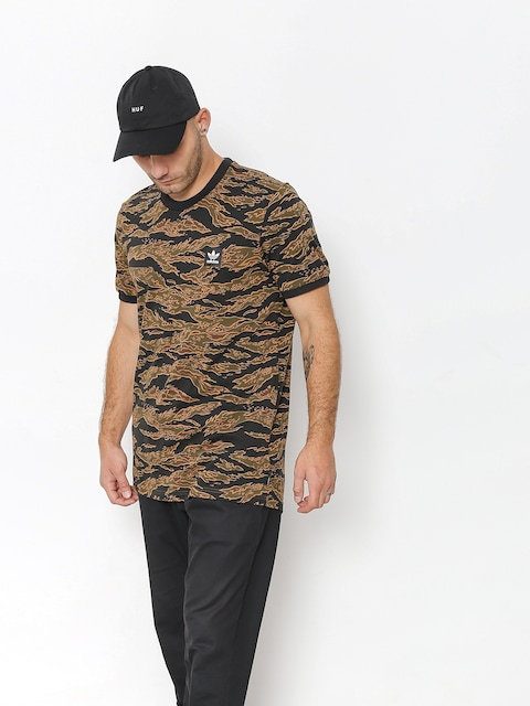 Tričko adidas Camo Aop (camo print/black/collegiate orange)