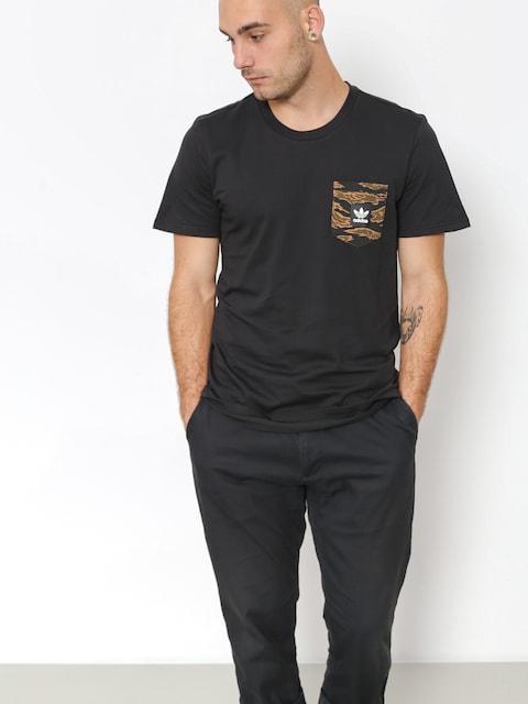 Tričko adidas Cmo Pckt (black/camo print/collegiate orange)