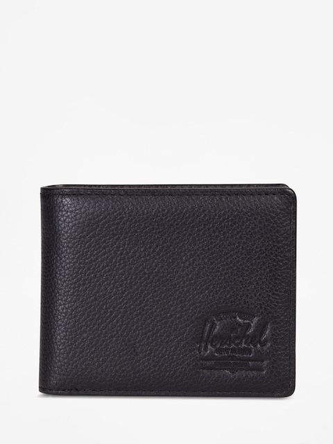 Peňaženka Herschel Supply Co. Hank Coin Leather Rfid (black pebbled leather)