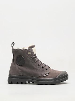 Topánky Palladium Pampa Hi Zip WL Wmn (cloudburst/charcoal gray)
