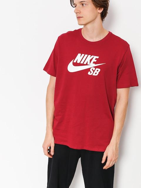 Tričko Nike SB Sb Logo (red crush/white)