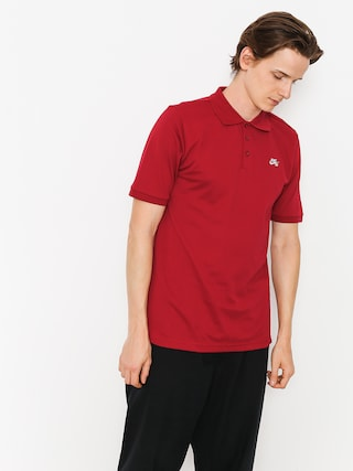 Tričko Polo Nike SB Sb Dri Fit Pique (red crush/white)