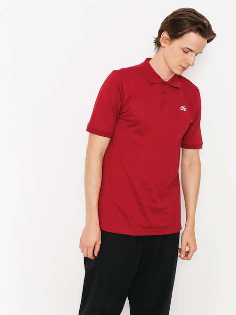Tričko Polo Nike SB Sb Dri Fit Pique (red crush/white)