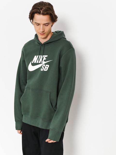 Mikina s kapucňou Nike SB Sb Icon HD (midnight green/white)