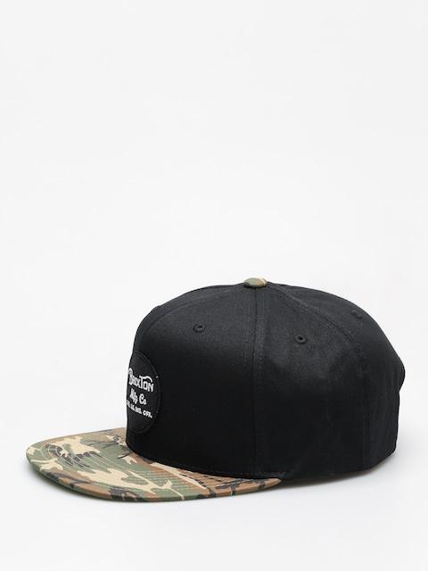 Šiltovka Brixton Wheeler Snapback ZD (black/camo)
