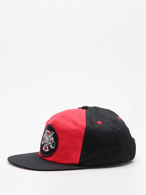 Šiltovka Independent x Thrasher Pentagram Cross Adj Snapback ZD (cardinal/black)
