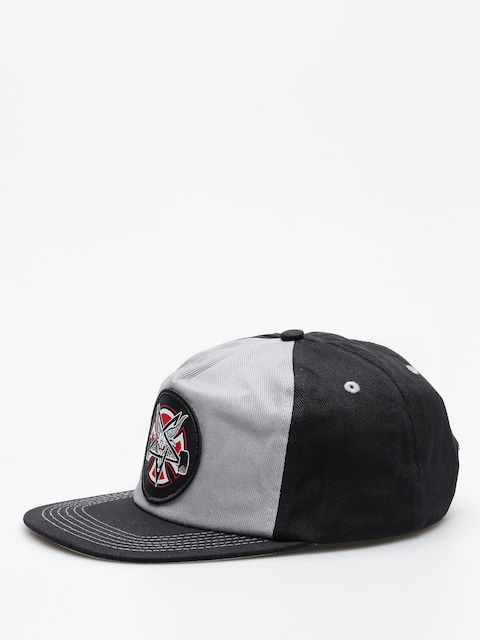 Šiltovka Independent x Thrasher Pentagram Cross Adj Snapback ZD (grey/black)