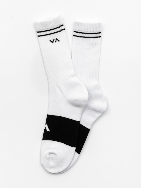 Ponožky RVCA Basic Block (white w black)