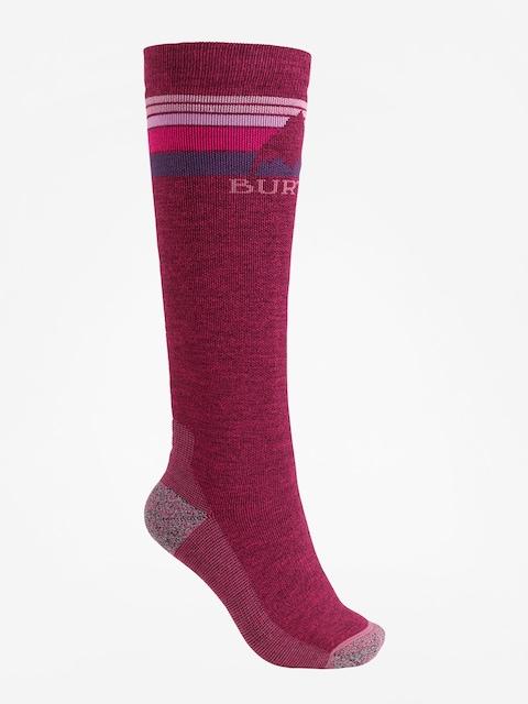 Ponožky Burton Emblem Midweight Wmn (sangria)