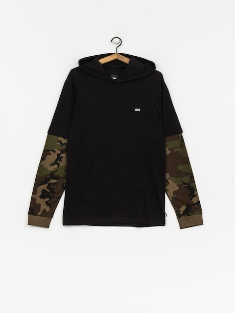 Triko Vans Woodland Hooded Two Fer (black/camo)