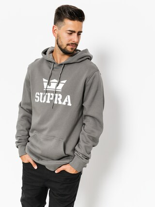 Mikina s kapucňou Supra Above HD (charcoal/white white)