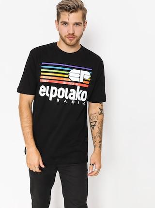 Tričko El Polako Rainbow (black)