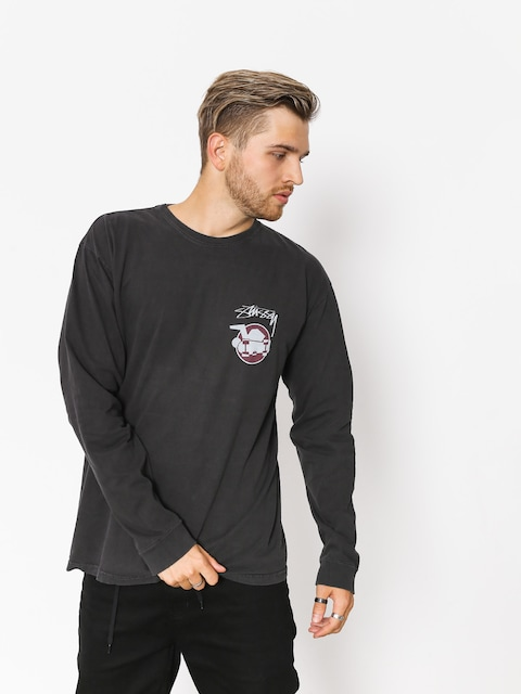Triko Stussy Skateman Pig Dyed (black)