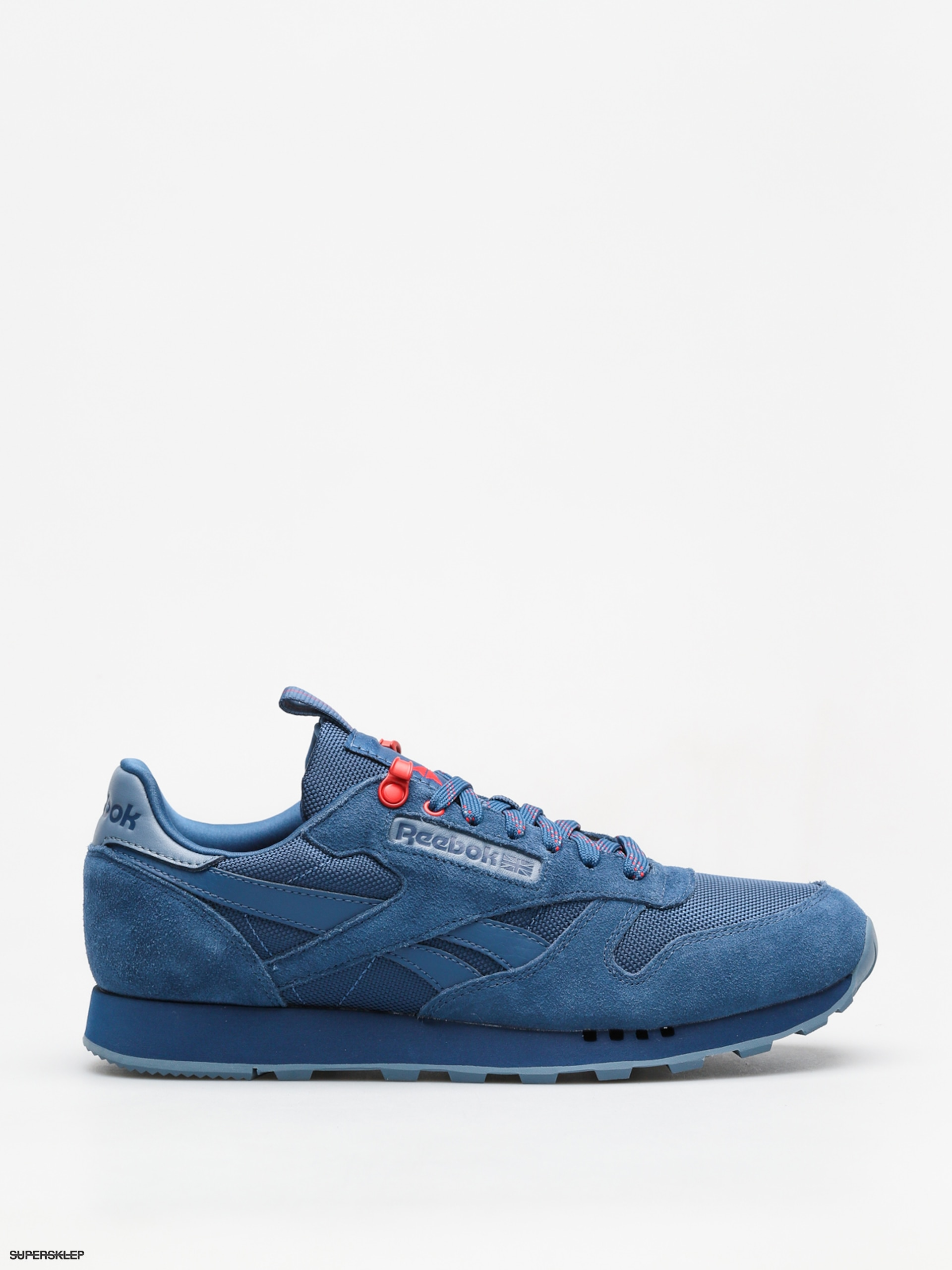 Topánky Reebok Cl Leather Explore (bunker blue blue slate primal red) 9bb40a73124