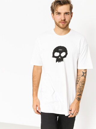 Tričko Zero Single Skull (white)