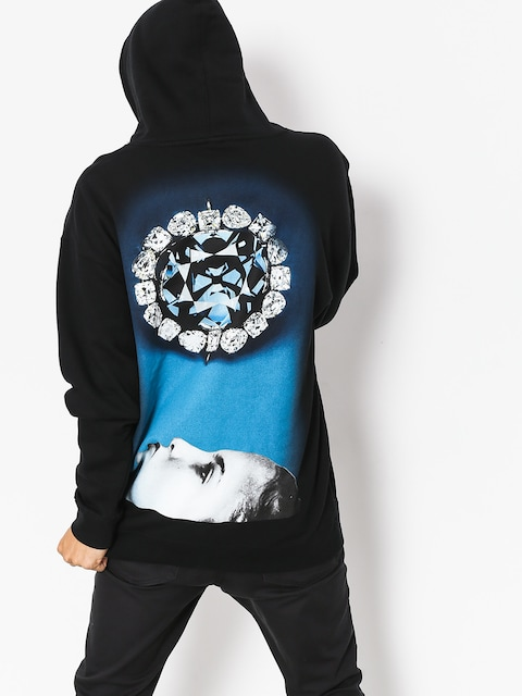 Mikina s kapucňou Diamond Supply Co. Face Down HD (black)