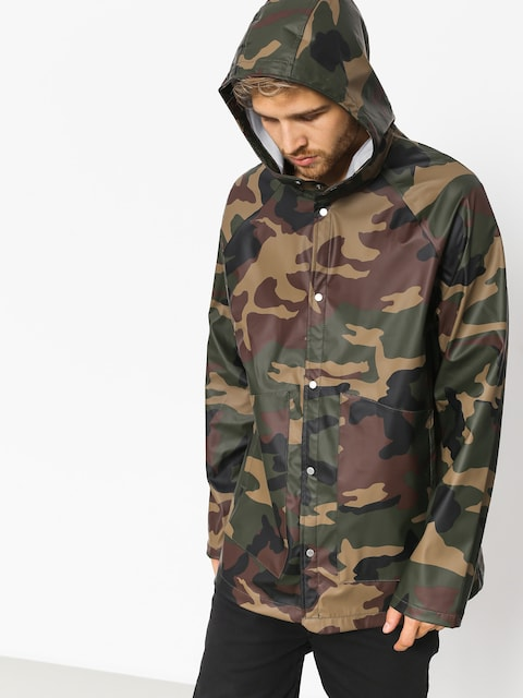 Bunda Herschel Supply Co. Rainwear Classic (woodland camo/white classic logo)