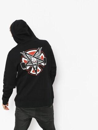Mikina s kapucňou Independent x Thrasher Pentagram Cross HD (black)