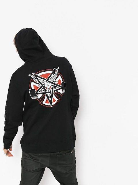 Mikina s kapucňou Independent x Thrasher Pentagram Cross HD (black)
