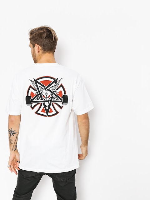 Tričko Independent x Thrasher Pentagram Cross (white)