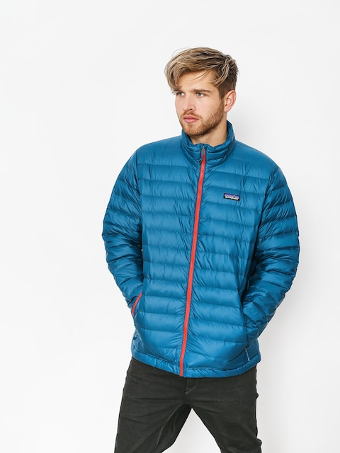 Bunda Patagonia Down Sweater (big sur blue w/fire red)