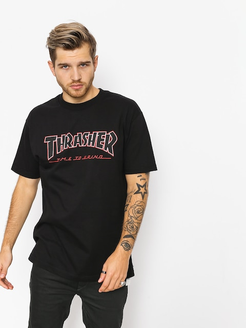 Tričko Independent x Thrasher Ttg (black)